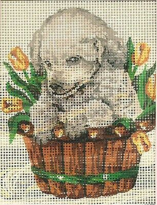 Grafitec Needlepoint Tapestry Kit - Puppy in Tulips