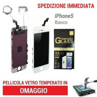 Touch Screen + Lcd Display Retina+Frame Vetro Schermo Per Apple Iphone 5 Bianco