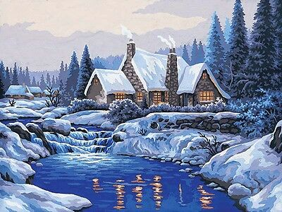 Grafitec Printed Tapestry Needlepoint Canvas - Reflections in the Snow