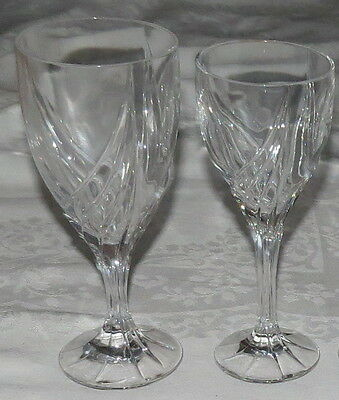 """Lenox Debut Crystal 7.3/8"""" Wine Glass and 7.3/4"""" Water Goblet"""
