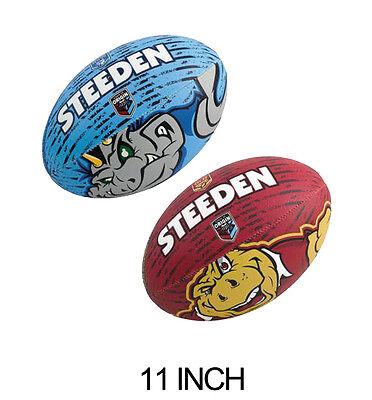 Steeden Nrl State Of Origin Rugby League Ball - 11 Inch - Qld / Nsw - Football