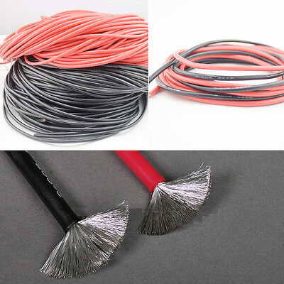 12 14 18 20 AWG 20m Gauge Silicone Wire Flexible Stranded Copper #C Cable For RC