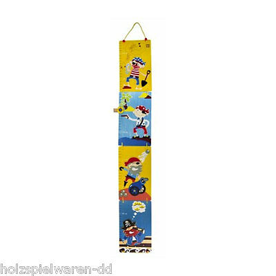 "Ulysse 22111 Height chart ""pirate"" foldable 80-155 cm wood new! #"