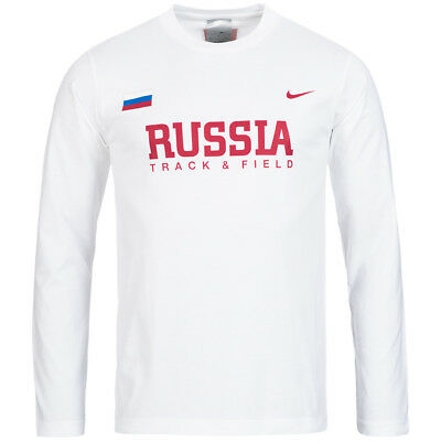 Nike Track & Field Russland Fitness Leichtathletik Training Shirt 713739-100 neu