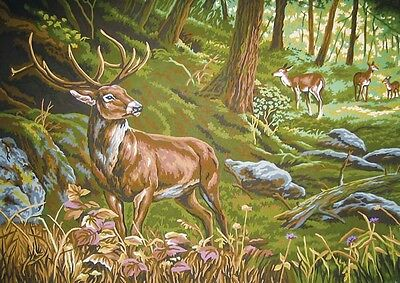 Grafitec Printed Tapestry Needlepoint Canvas - Royal Stag