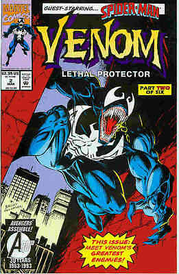 Venom: Lethal Protector # 2 (of 6) (Mark Bagley) (guest: Spiderman) (USA, 1993)
