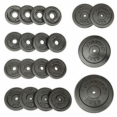 "Viavito Cast Iron 0.5kg - 20kg 1"" Standard Barbell Dumbbell Disc Weight Plates"