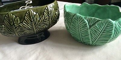 Two Vintage Green Sylvac Pottery Items