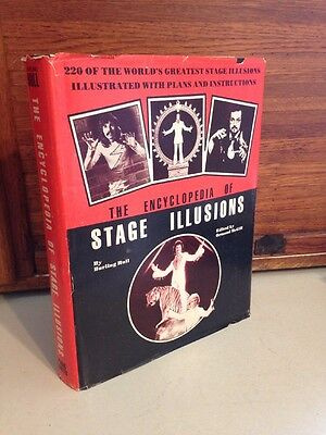 The ENCYCLOPEDIA of STAGE ILLUSIONS by Burling Hull HB DJ 1980 RARE Limited