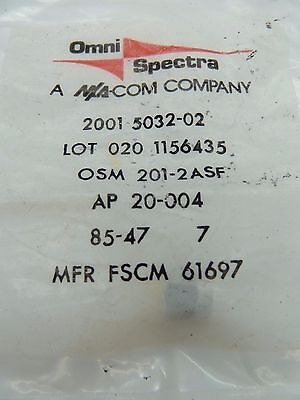 New-Old Stock OMNI SPECTRA  2001-5032-02 COAXIAL CONNECTOR