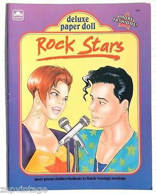 Vtg NEW 1992 Rock Star Paper Doll (Concert) Golden Book / Booklet