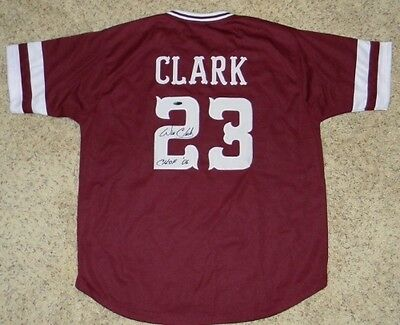 Will Clark Autographed Signed Mississippi State Bulldogs #23 Baseball Jersey
