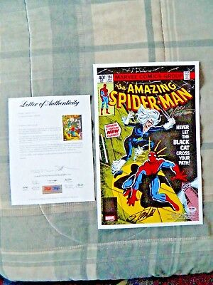 Stan Lee & Marv Wolfman The Amazing Spider-Man #194 Signed Comic Print PSA/DNA