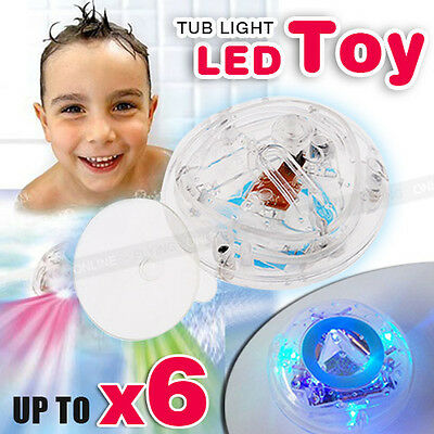6X Party in the Tub Toy Bath Water LED Light Kids Waterproof children funny time