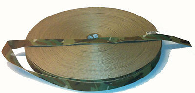 """Double Sided Crye Multicam MTP Camouflage Military Spec 25mm / 1"""" Webbing"""