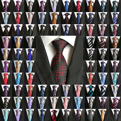 300 Color Wholesale Lot  Men's Classic Tie Silk Necktie Woven Jacquard Neck Ties