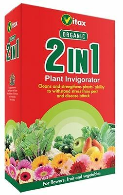 Vitax Organic 2 In 1 Garden Plant Flower Fruit & Vegetables Invigorator 250Ml