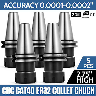 CAT40 ER32 END MILL HOLDERS 5 PCS COLLET CHUCK NEW TOOL HOLDER SET Fast Delivery
