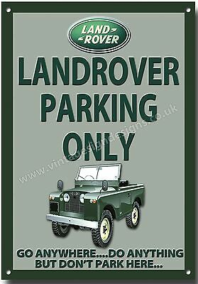 Landrover Parking Only Metal Sign.4X4 Off Roading.jeep.