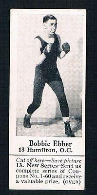 1926 Dominion Chocolate Sports Card #13 Bobbie Ebber Hamilton (Boxing)