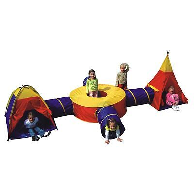 Boys Girls Large Play Tent Adventure Tunnel Set Childrens Kids Outdoor Indoor