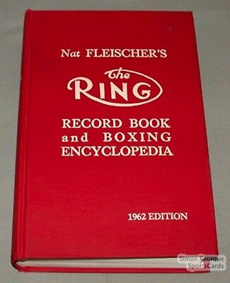 Orig. 1962 The Ring Record Book & Boxing Encyclopedia