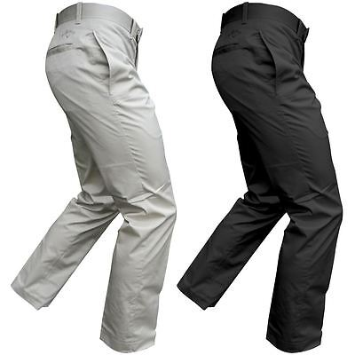 40% OFF Callaway Cotton Chev Opti-Dri Flat Front Mens Stretch Golf Trousers