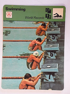 Sportscaster Rencontre Card - Swimming - World Records