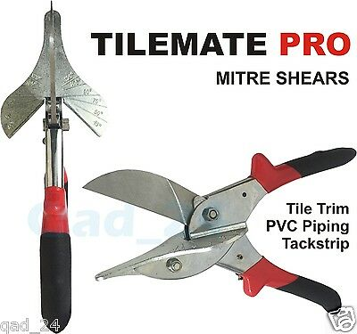 Tile Mate Pro Mitre Shears Multi Angled Anvil Cutters UPVC Trim Tube Gasket Pipe