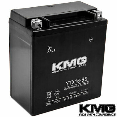 NEW High Performance 12V SMF Battery KMG Replacement YTX16-BS Maintenance Free
