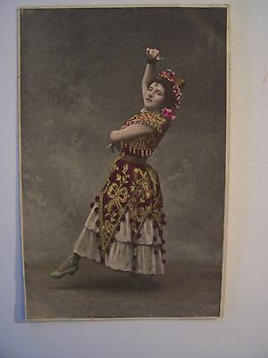 CPA  -  Artiste , Music-Hall  - Danseuse anonyme , Espagnole ( ? )  - 1902