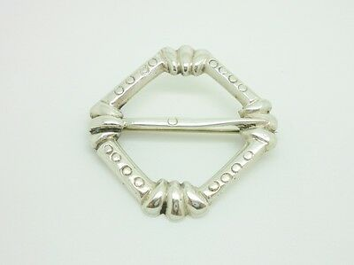 Gorgeous Antique Scottish Sterling Silver Unusual Penannular Celtic Brooch