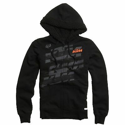 Fox - KTM Dividend Sherpa Zip Black Youth Girl Hoodie - Medium