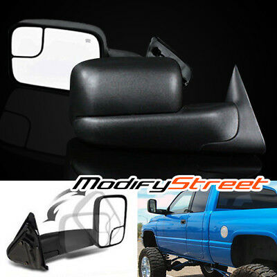 For 98-01 Dodge Ram 1500/98-02 2500/3500 Power/heated Flip-Up Tow Side Mirrors