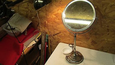 Antique Plated Shaving Mirror Stand Soap Bowl