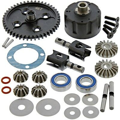 AE Team Associated RC8T3* CENTER DIFFERENTIAL/DIFF, OUTDRIVE CUPS, 46T SPUR GEAR