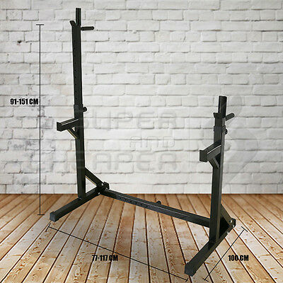 Home Gym Fitness Adjustable Squat Rack with Dip Bars