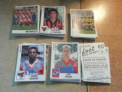 original FOOTBALL STICKERS PANINI FOOT 90 1990 FRANCE Choisir dans liste