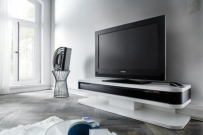 tv hifi rack 150x37x39 cm hochglanz wei glas multimedia station lowboard kent eur 629 00. Black Bedroom Furniture Sets. Home Design Ideas