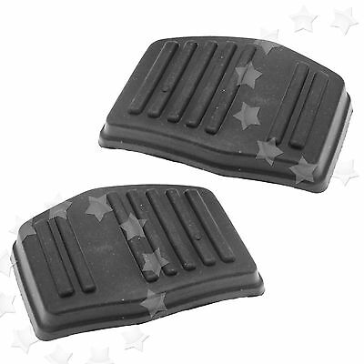 2 x Black Clutch or Brake Pedal Pad Rubber Cover For Ford Focus