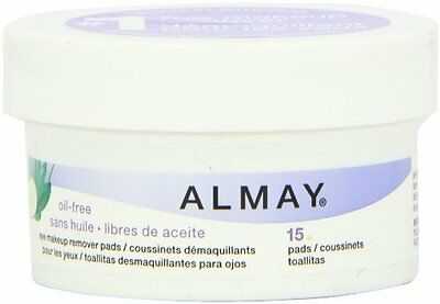 Almay Oil-Free Gentle Eye Makeup Remover Pads 15 pcs New