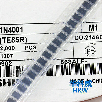 100PCS  NEW  1N4001 LL4001 M1 SMD 1N4001 1A 50V Rectifie Diodes