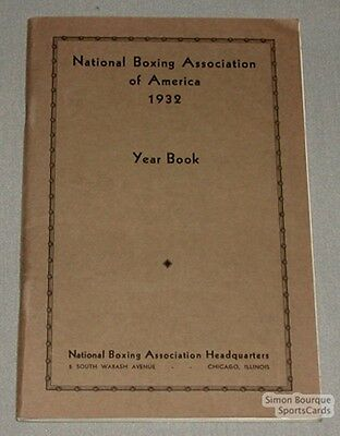 1932 National Boxing Association of America Yearbook