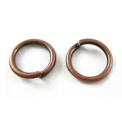 1000+ Red Copper Nickel-Free STRONG Plated Iron 0.7 x 4mm Jump Rings HA07635
