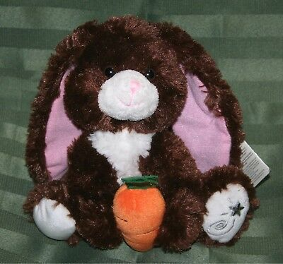 Russ Berrie Shining Stars CHOCOLATE BUNNY Plush Brown Easter Rabbit NEW w/ tags