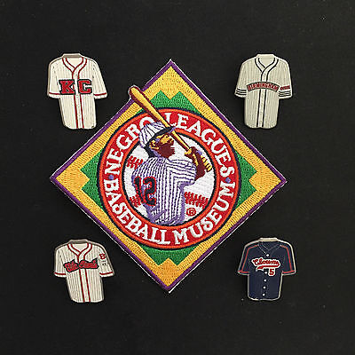 Negro League pins & patch-5-Collectable-Jackie,Willie,Hank & Roy-#1 Best Seller