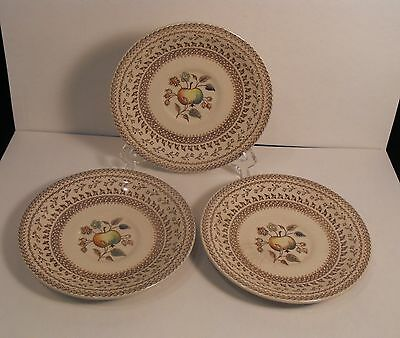 LOT 3 JOHNSON BROS. Staffordshire Old Granite FRUIT SAMPLER Saucers Plates