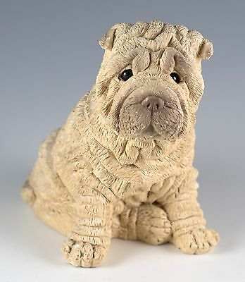 Vintage Stone Critters Shar Pei Dog Figurine 3.5 Inch Made In USA United Design