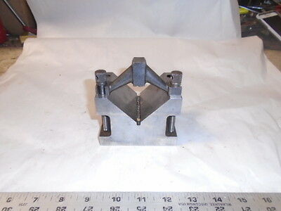 MACHINIST TOOL LATHE MILL NICE Large Machinist V Block and Clamp