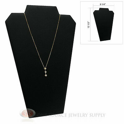"12 1/2"" Black Leather Padded Pendant Jewelry Necklace Display Easel Presentation"